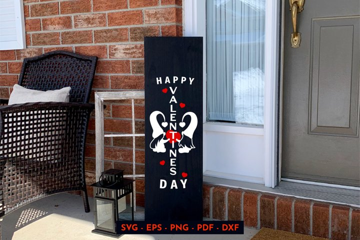 Valintines day. Valentine gnomes. Porch sign. SVG, PNG