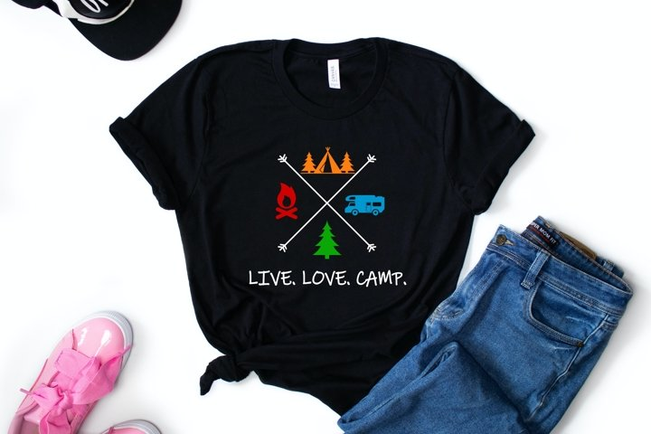 HOT TREND! Live Love Camp T-shirt Design