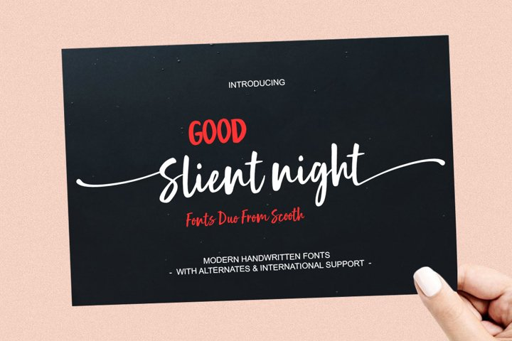 Good Slient Night - A Delightful New Font Duo
