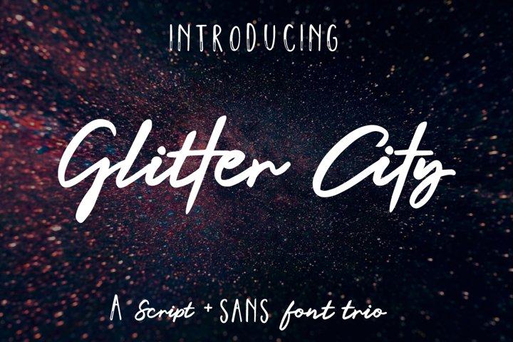 Glitter City Font Trio Logos