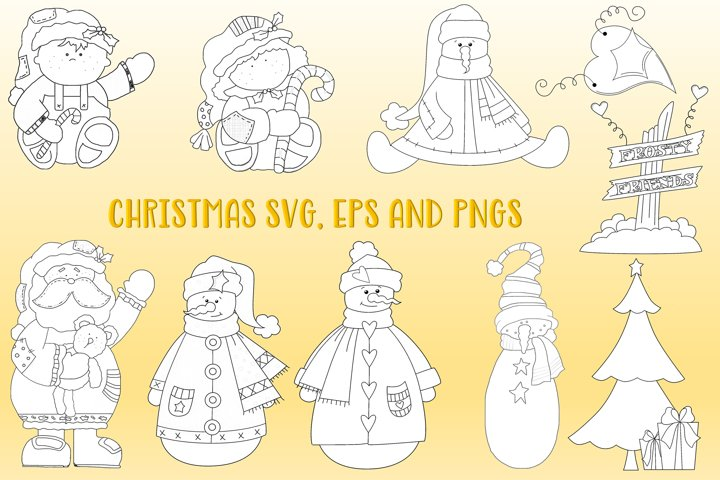 Christmas Bundle SVG, PNG and EPS Files. Commercial Use