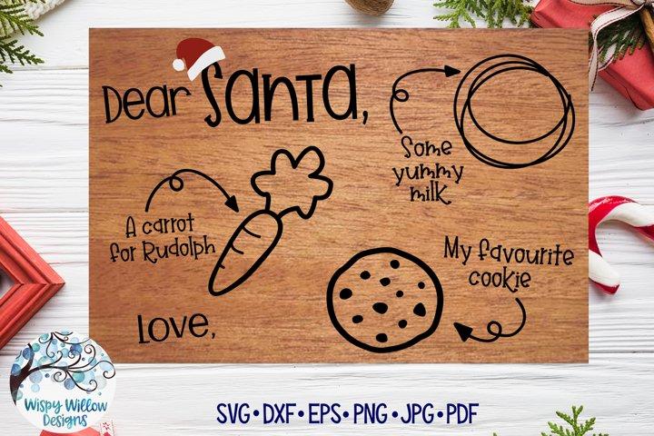 Santa Tray SVG | Christmas Cookie Tray SVG | Favourite