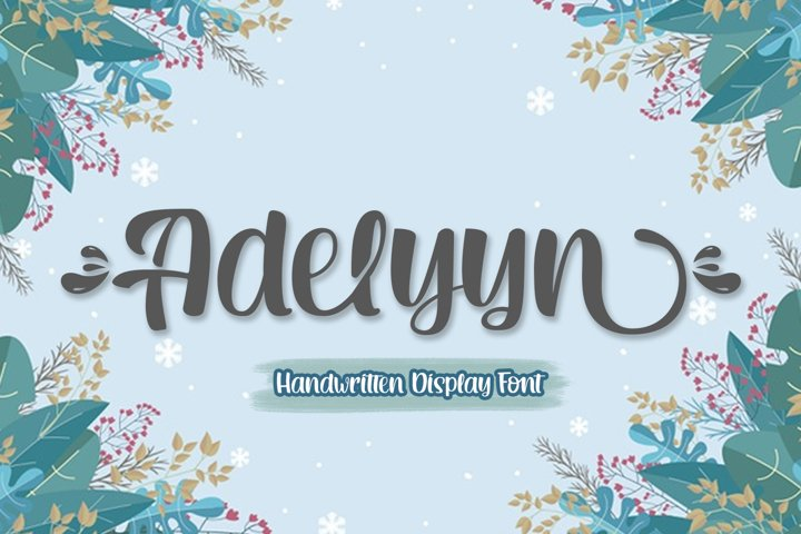 Adelyyn Display Font