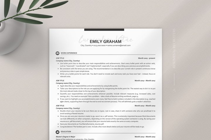 Modern and Stylish ATS-friendly Resume, Student CV Design