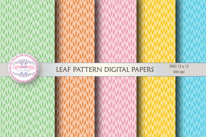 LEAF PATTERN DIGITAL PAPERS
