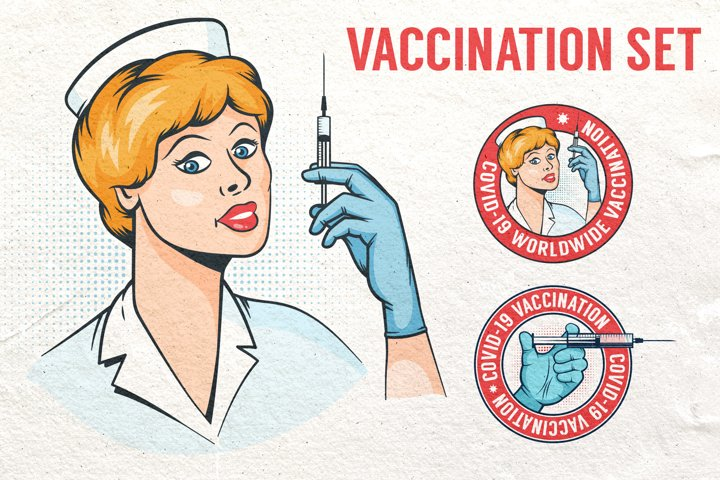 Vaccination Logos and Illustrations