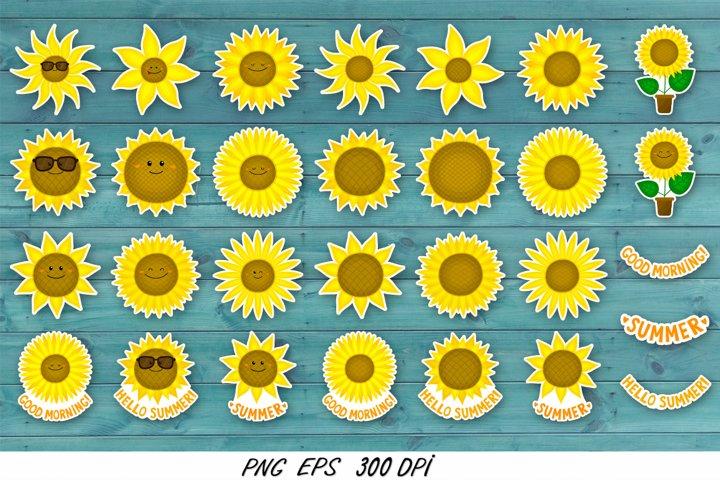 Sunflower stickers,sunflower clipart,sublimation t shirt PNG