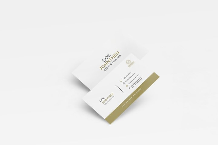 Minimalist Business Card with Two Different Color Vol.6
