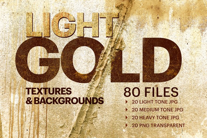 Light Gold Grunge Textures and Backgrounds