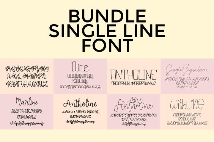 Bundle Single Line - Hair Line Font 2020