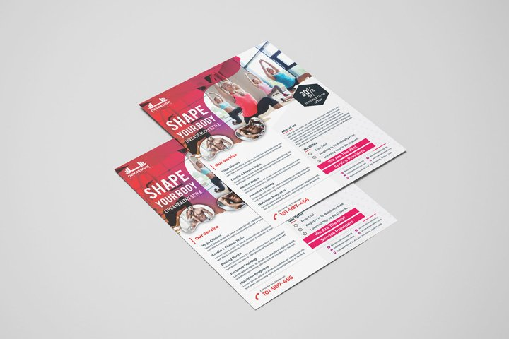 Modern GYM Flyer For GYM Business