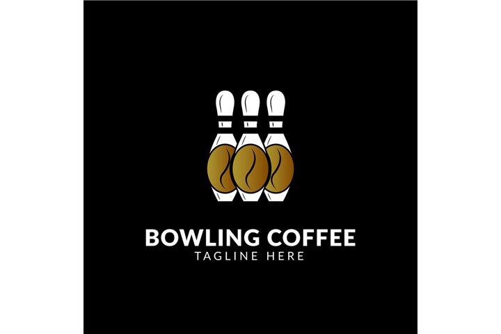 Awesome logo icon Bowling Coffee creative design