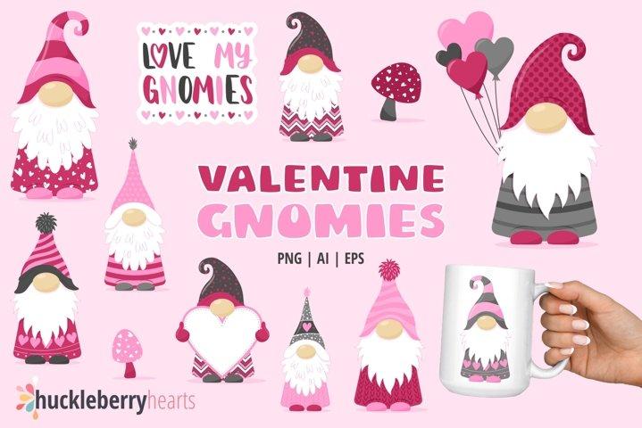 Valentine Gnomies Clipart