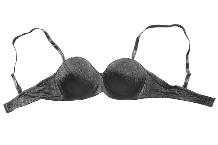 Stock Photo - Black bra on a white background.