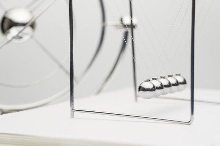 Pendulum on a white background