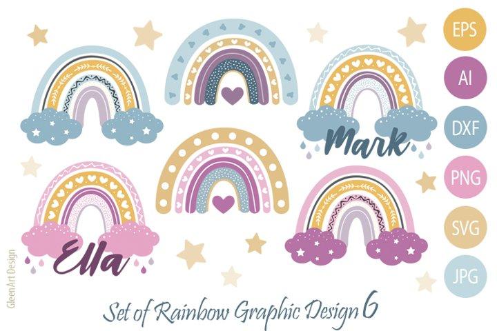 Baby room rainbow svg, vector graphics