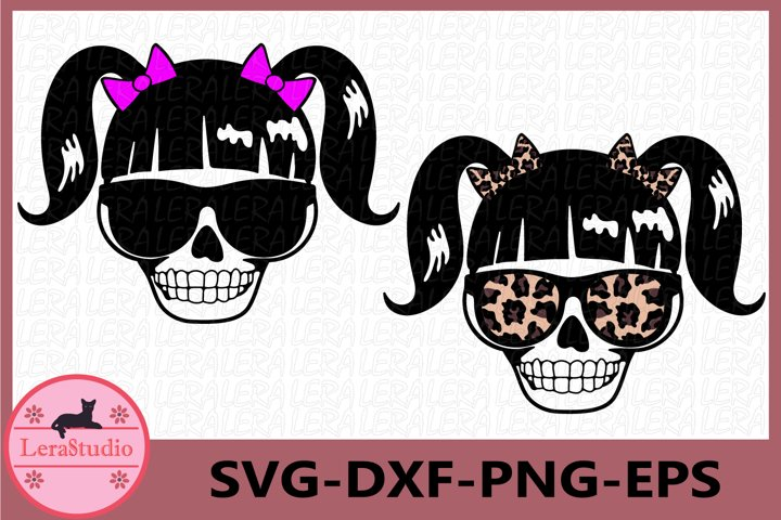 little Girl Skull Svg, Skeleton svg, Skulls Silhouettes Svg