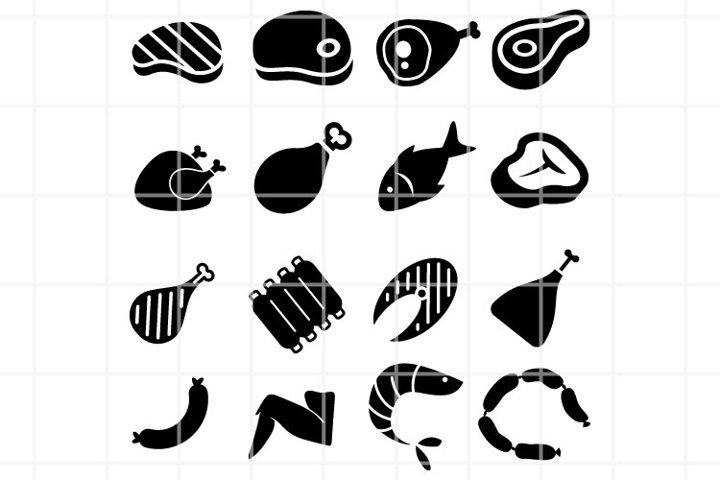 Meat SVG. Grill cutting files. B-B-Q SVG files for cut.
