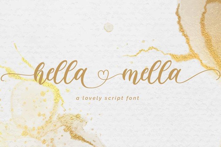 Hella mella - a Lovely Script Font