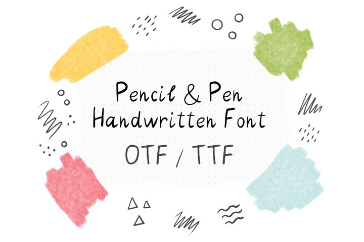 Pencil & Pen Handwritten Font