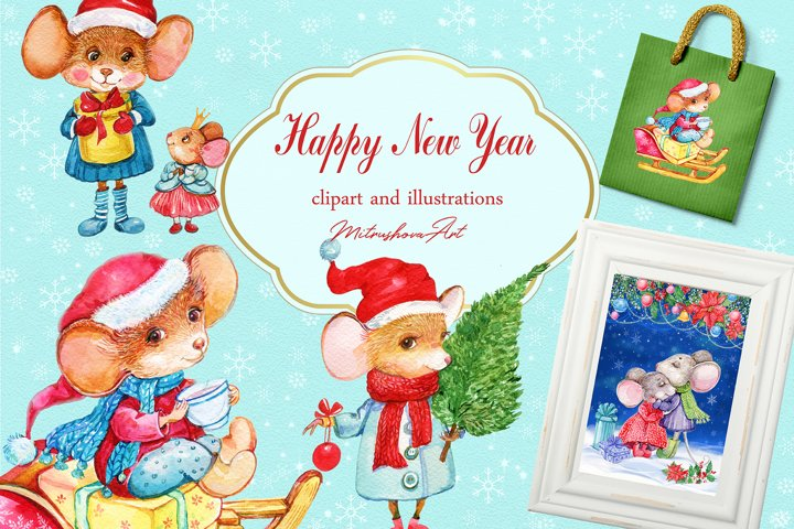Illustrations for Christmas cards