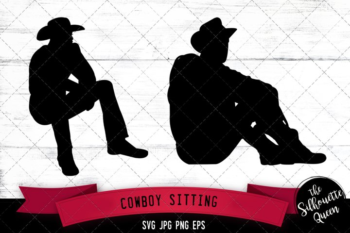 Cowboy Sitting Svg Cut File