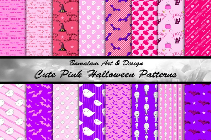 Cute Pink Halloween Patterns