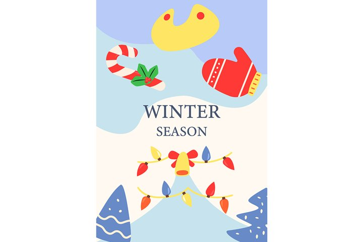Christmas holiday season abstract poster template