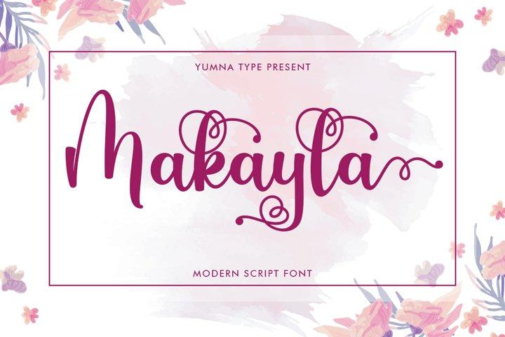 Makayla - Beautiful script Font