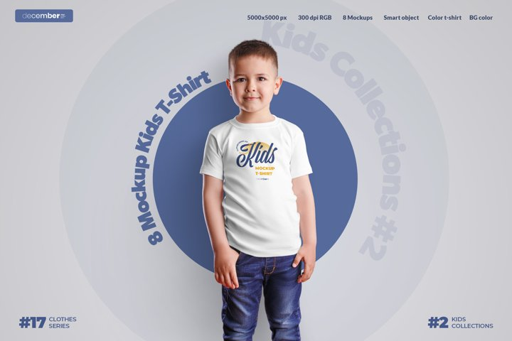8 Mockups Kids T-Shirt Boy