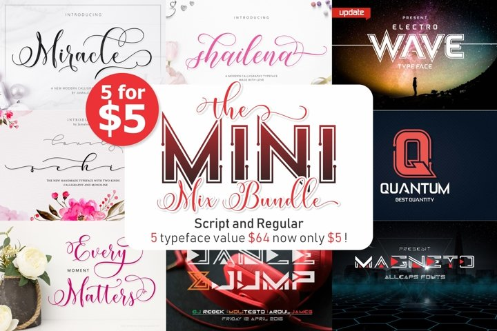 The Mini Mix Bundle 5 for $5