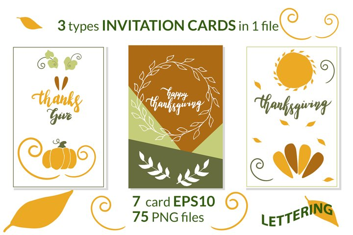 INVITATION CARDS on Thanksgiving