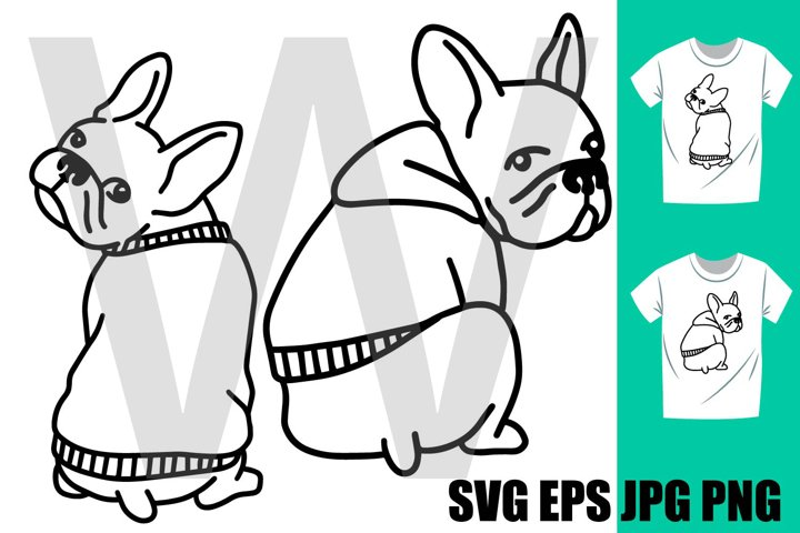 French Bulldog Set D - PNG SVG EPS PNG