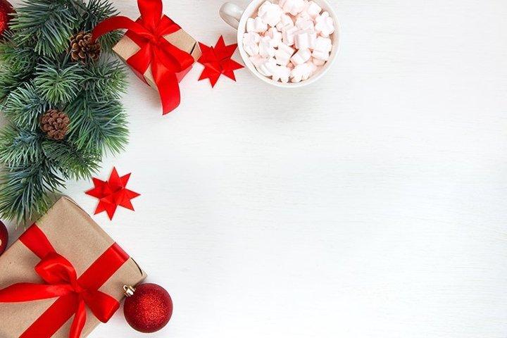 Christmas flat lay.