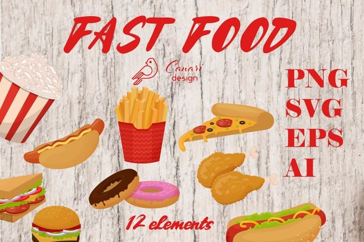 Fast food clip art collection