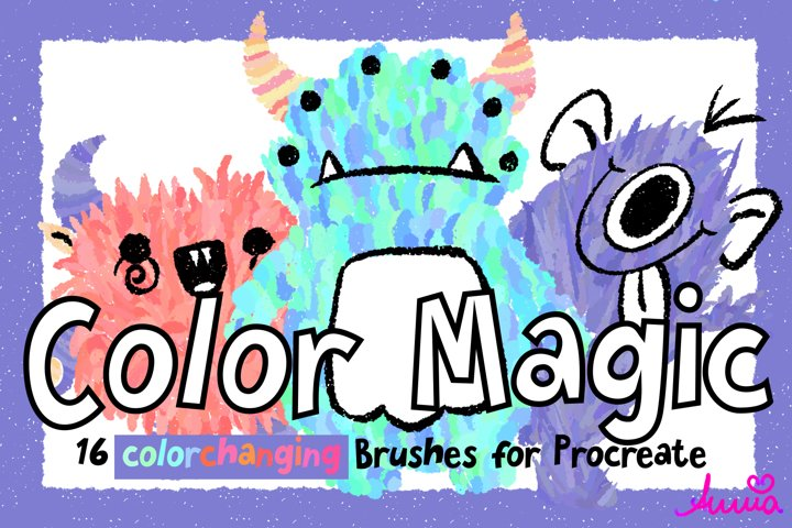 COLOR MAGIC - 16 colorchanging Brushes for Procreate 5/5x