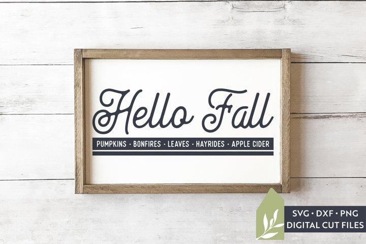 Hello Fall SVG, Thanksgiving SVG