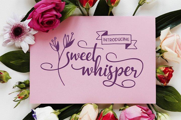 Sweet Whisper || duo font