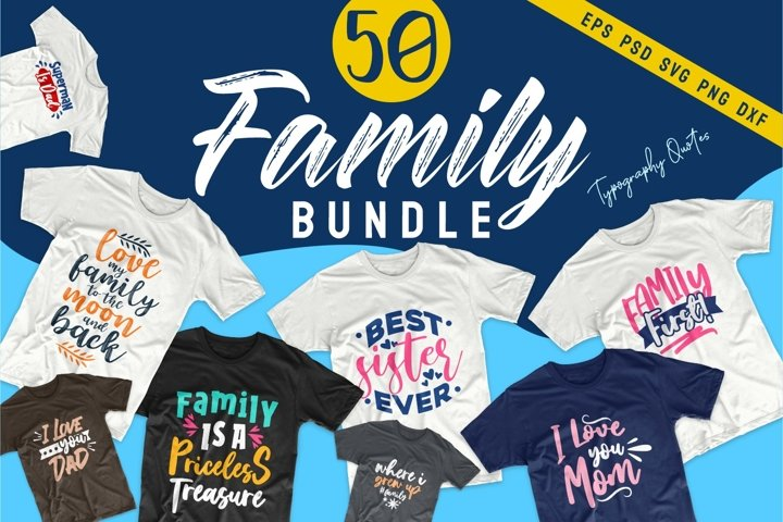 Family SVG Bundle Quotes Typography T-Shirt Designs Vector