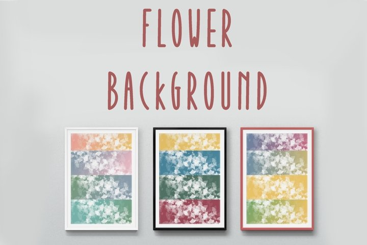 12 Flower background. only JPEG format