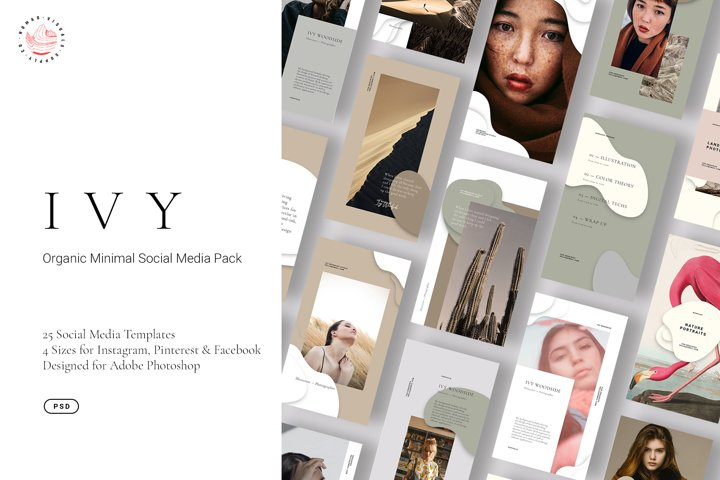 IVY - Organic Minimal Social Media Kit