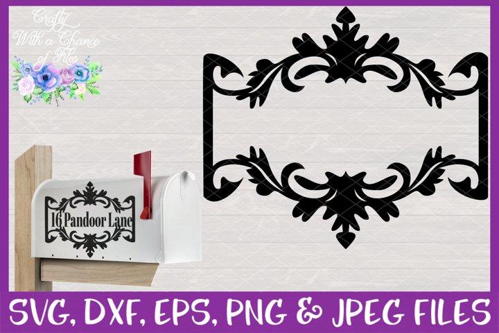 Mailbox Flourish Monogram SVG - Laser Cut Sign Design