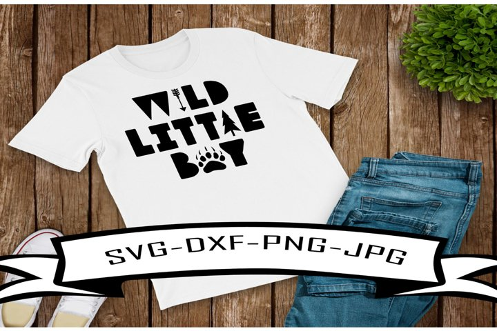 Wild Little Boy SVG-DXF-PNG-JPG