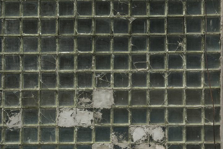Closed up of green glass cells texture background