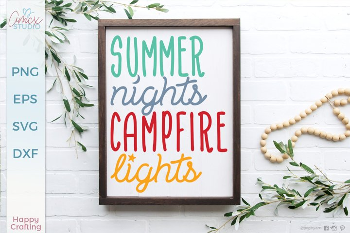 Summer Nights Campfire Lights- A Summer Craft