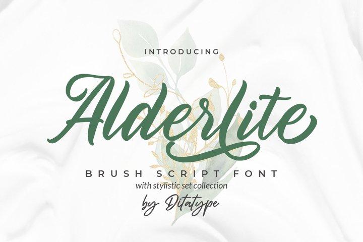 Alderlite-Elegant Brush Font