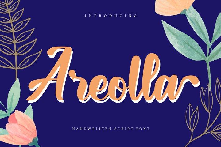 Areolla | Handwritten Script Font