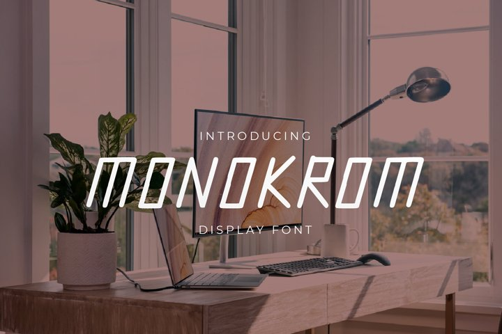 Monokrom - Modern Display Font