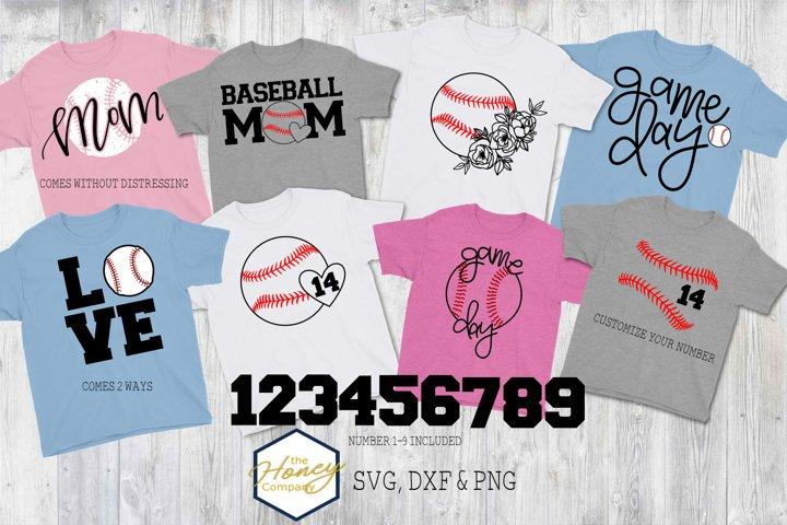 Baseball Bundle SVG PNG DXF Sports Mom Team Cutting Files