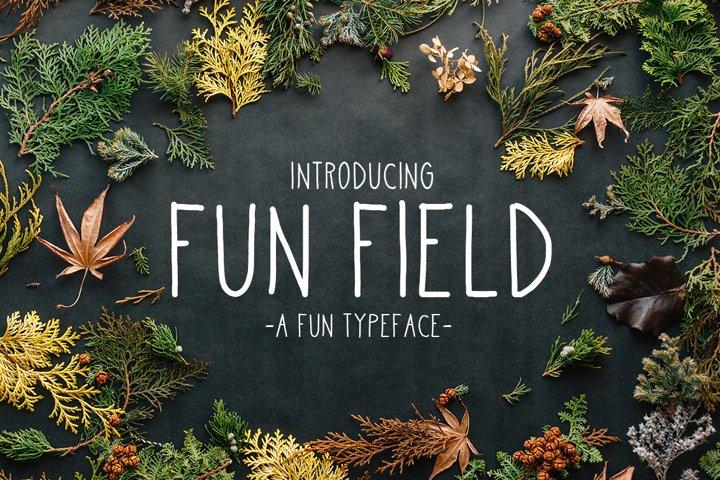 Fun Field a Fun typeface
